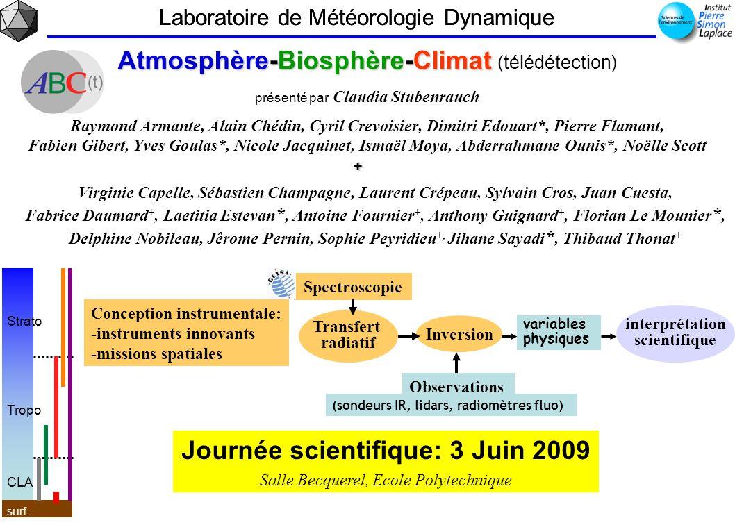 Journée scientifique: 3 Juin 2009