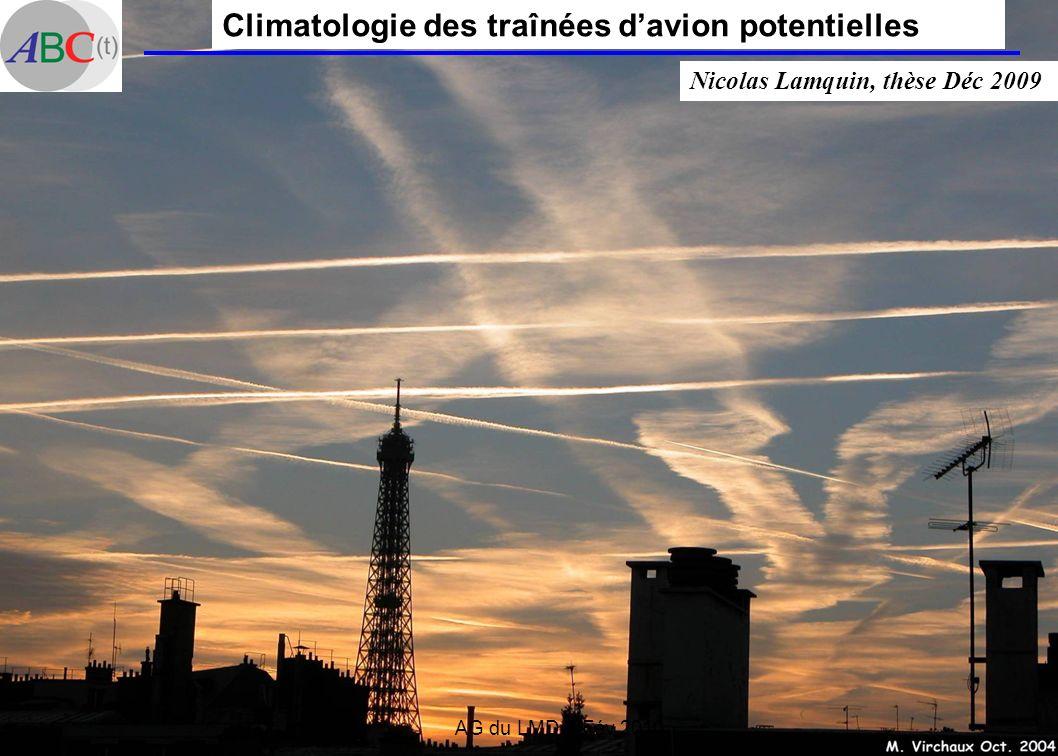 Climatologie des traînées d'avion potentielles