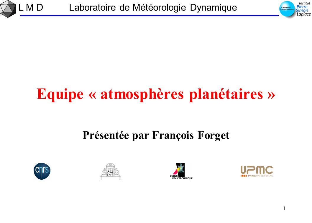 Equipe « atmosphères planétaires »