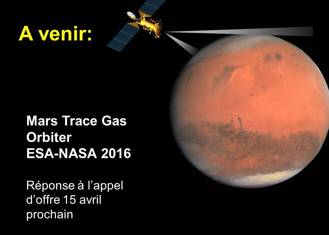 A venir: Mars Trace Gas Orbiter ESA-NASA 2016