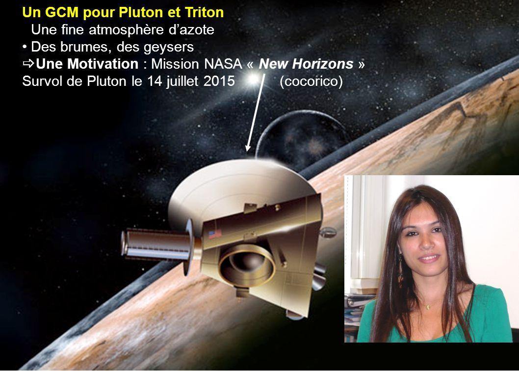Un GCM pour Pluton et Triton