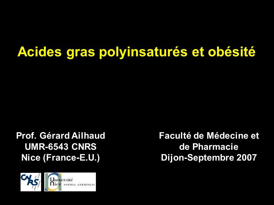 Acides gras polyinsaturés et obésité
