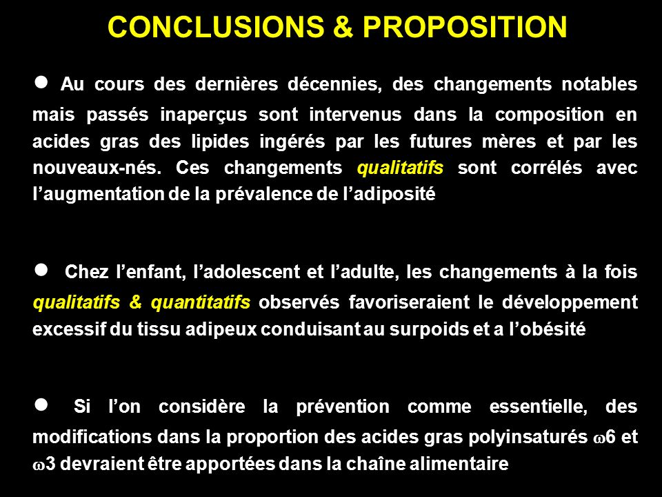 CONCLUSIONS & PROPOSITION