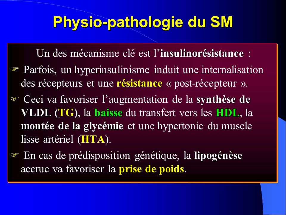Physio-pathologie du SM