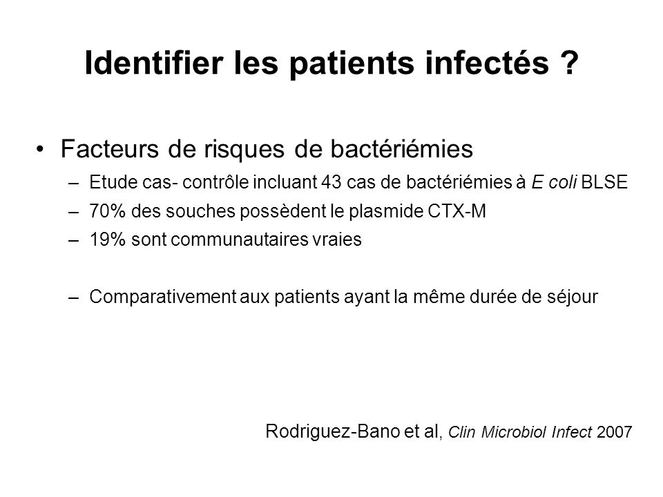 Identifier les patients infectés