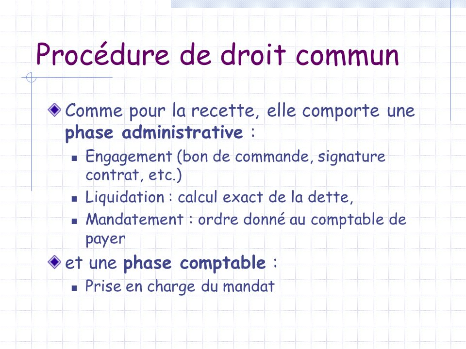 Procédure de droit commun