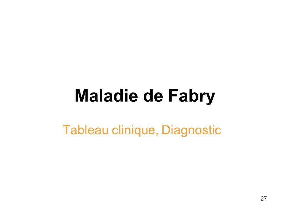 Tableau clinique, Diagnostic