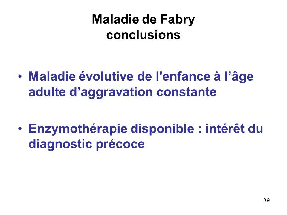 Maladie de Fabry conclusions