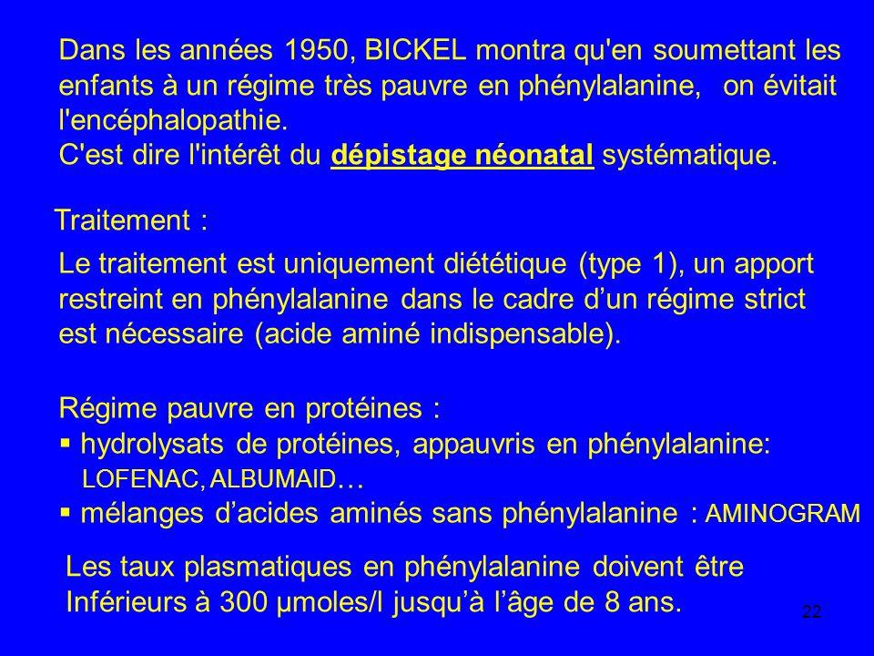 Dans les années 1950, BICKEL montra qu en soumettant les