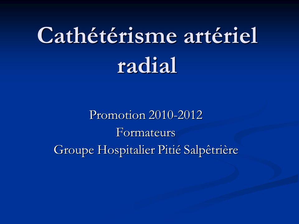 Cathétérisme artériel radial