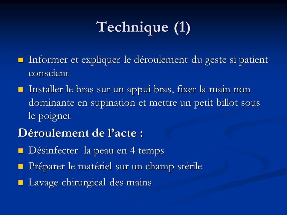 Technique (1) Déroulement de l'acte :