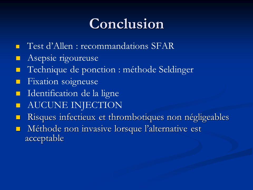 Conclusion Asepsie rigoureuse