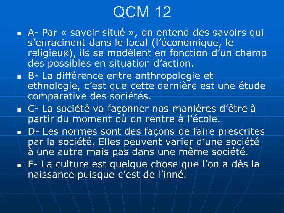 QCM 12
