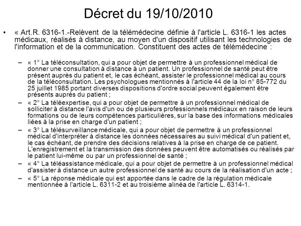 Décret du 19/10/2010