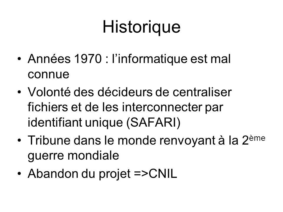 Historique Années 1970 : l'informatique est mal connue