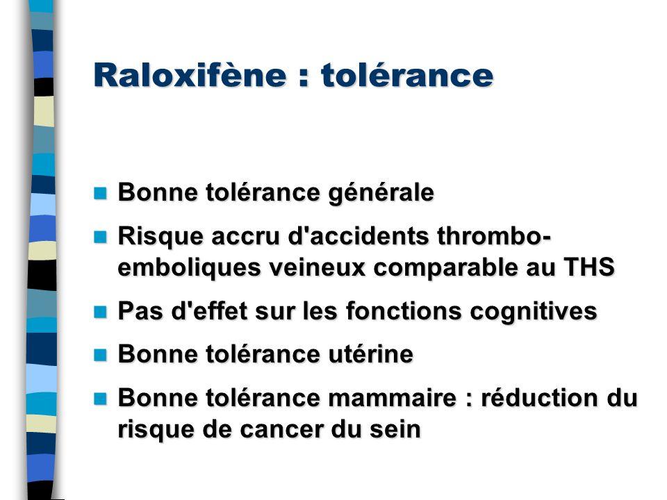 Raloxifène : tolérance