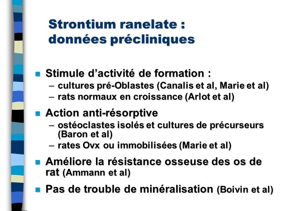 Strontium ranelate : données précliniques