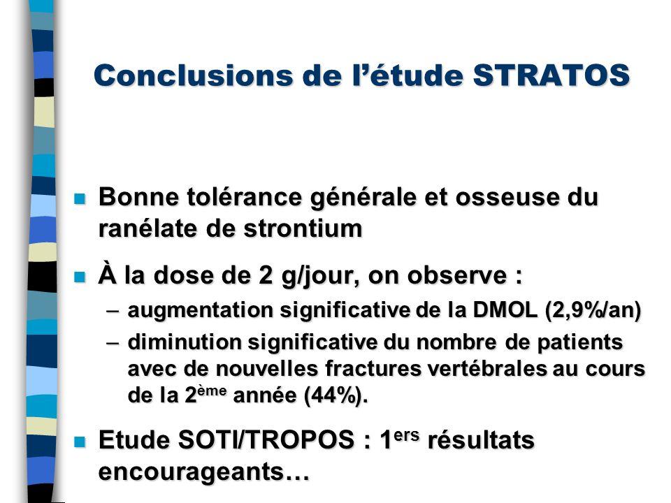 Conclusions de l'étude STRATOS