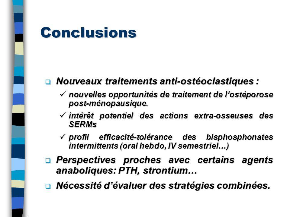 Conclusions Nouveaux traitements anti-ostéoclastiques :