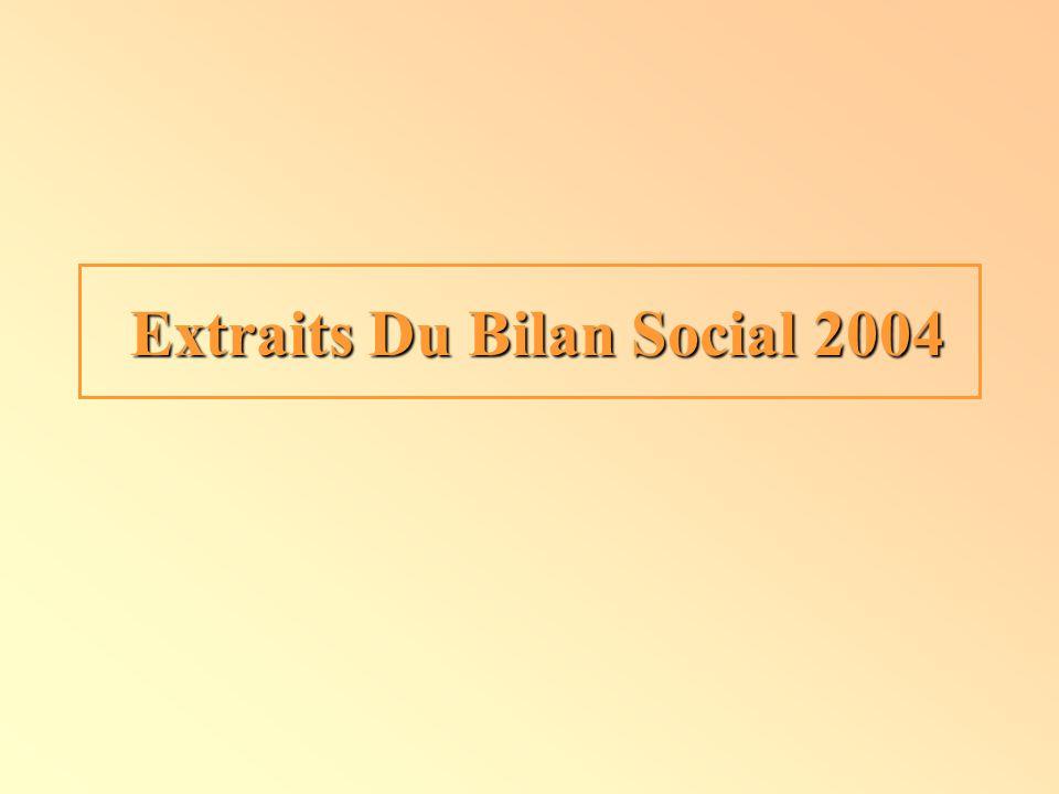 Extraits Du Bilan Social 2004