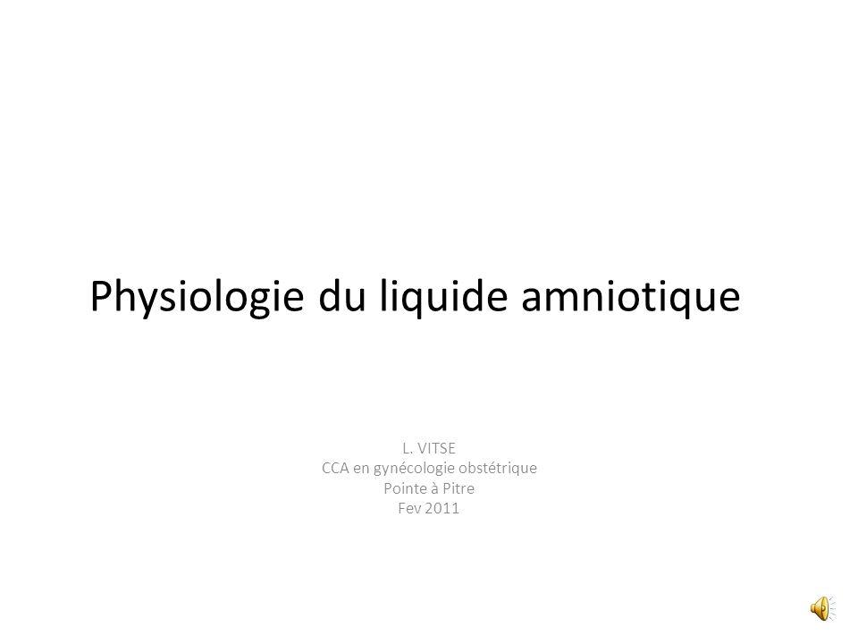 Physiologie du liquide amniotique