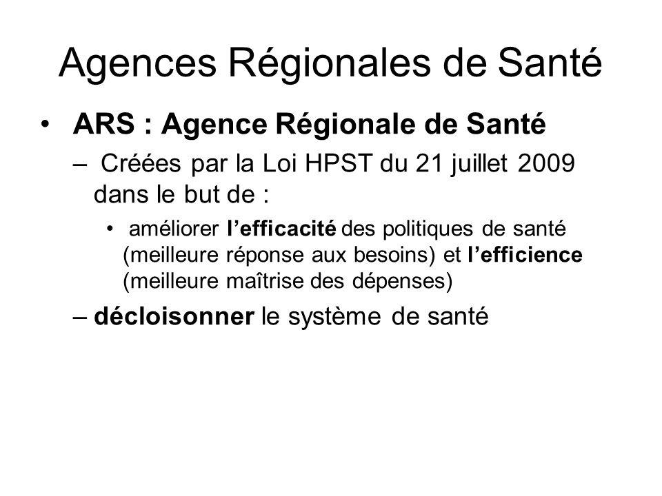 Agences Régionales de Santé