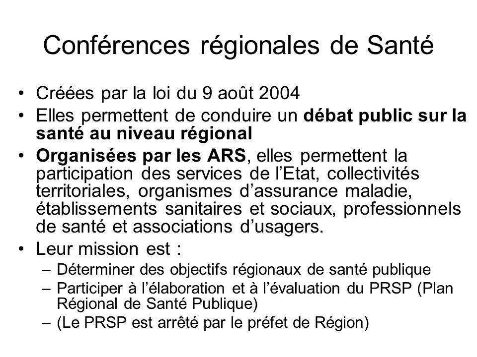 Conférences régionales de Santé