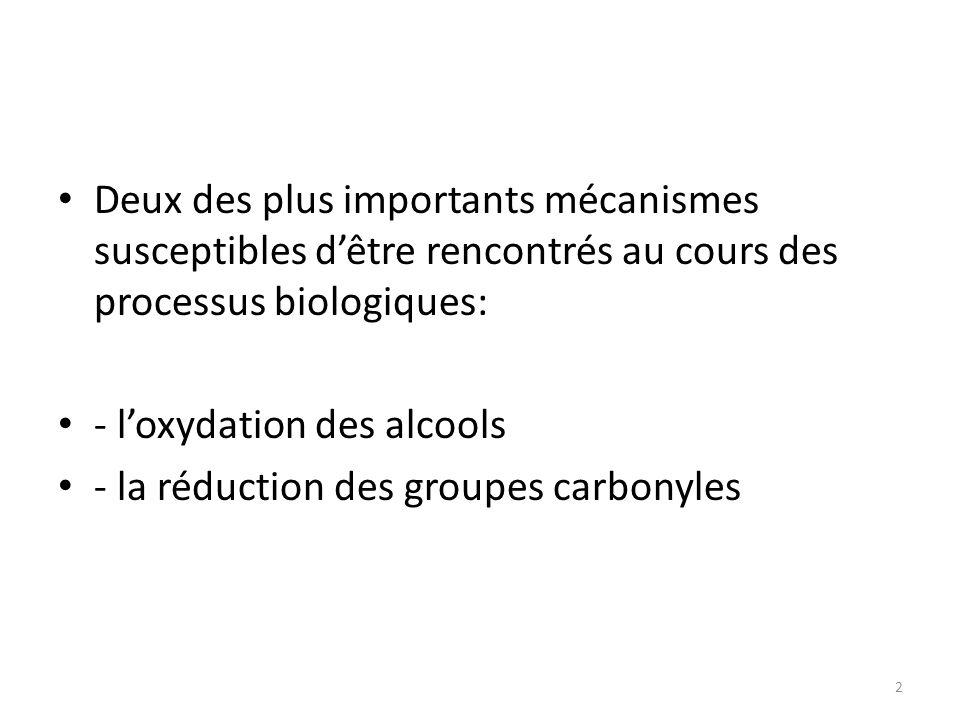 Deux des plus importants mécanismes susceptibles d'être rencontrés au cours des processus biologiques: