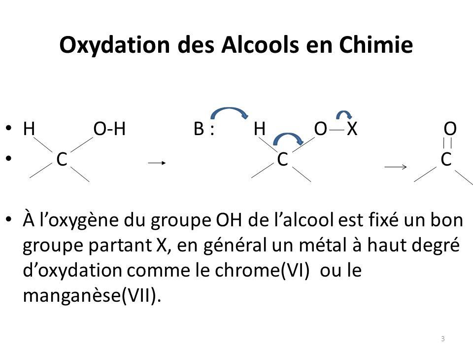 Oxydation des Alcools en Chimie
