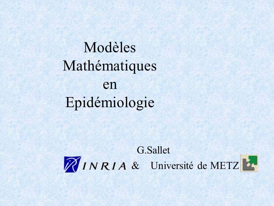 Modèles Mathématiques en Epidémiologie