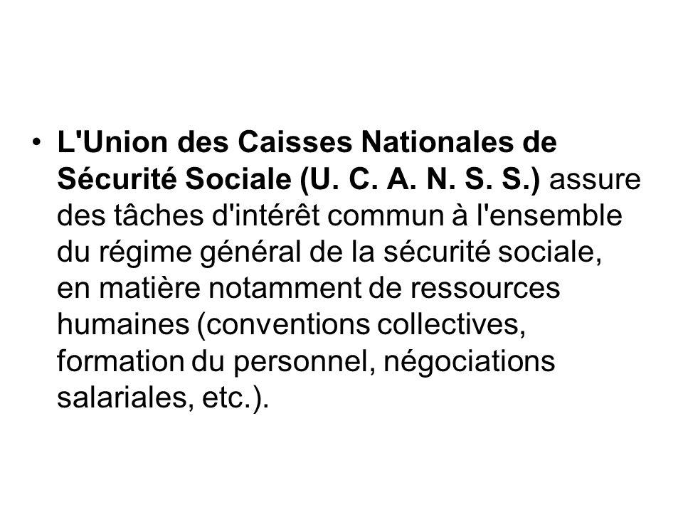 L Union des Caisses Nationales de Sécurité Sociale (U. C. A. N. S. S