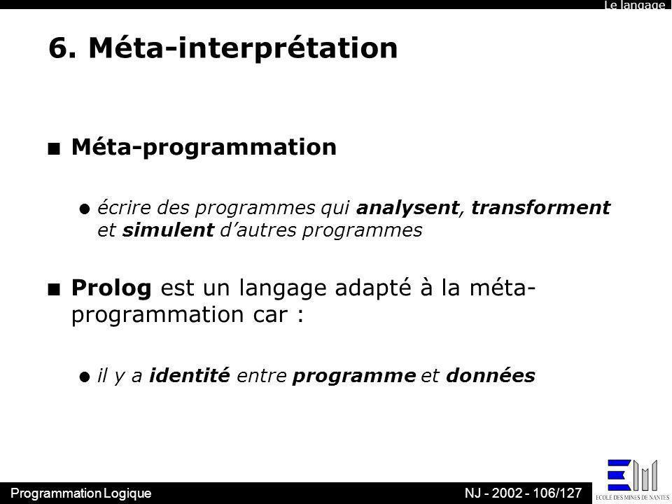 6. Méta-interprétation Méta-programmation