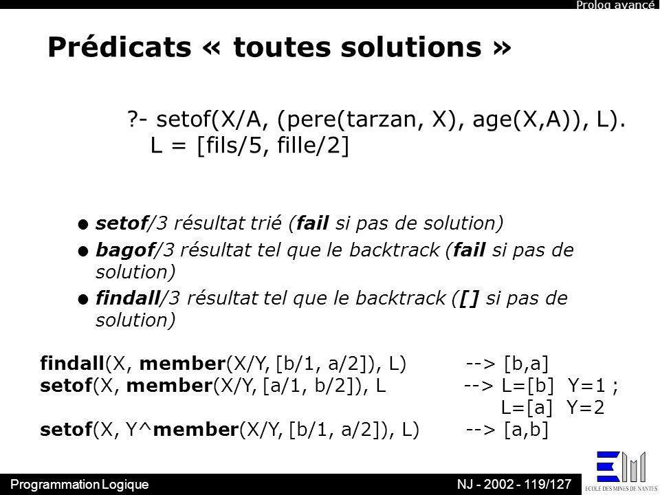 Prédicats « toutes solutions »