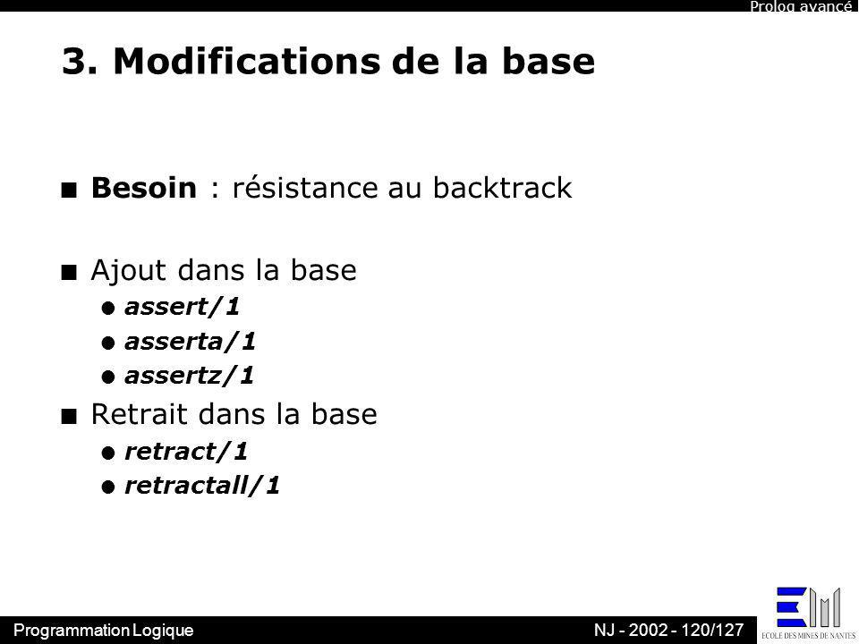 3. Modifications de la base