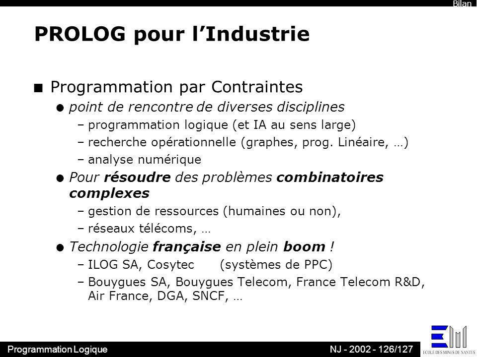PROLOG pour l'Industrie