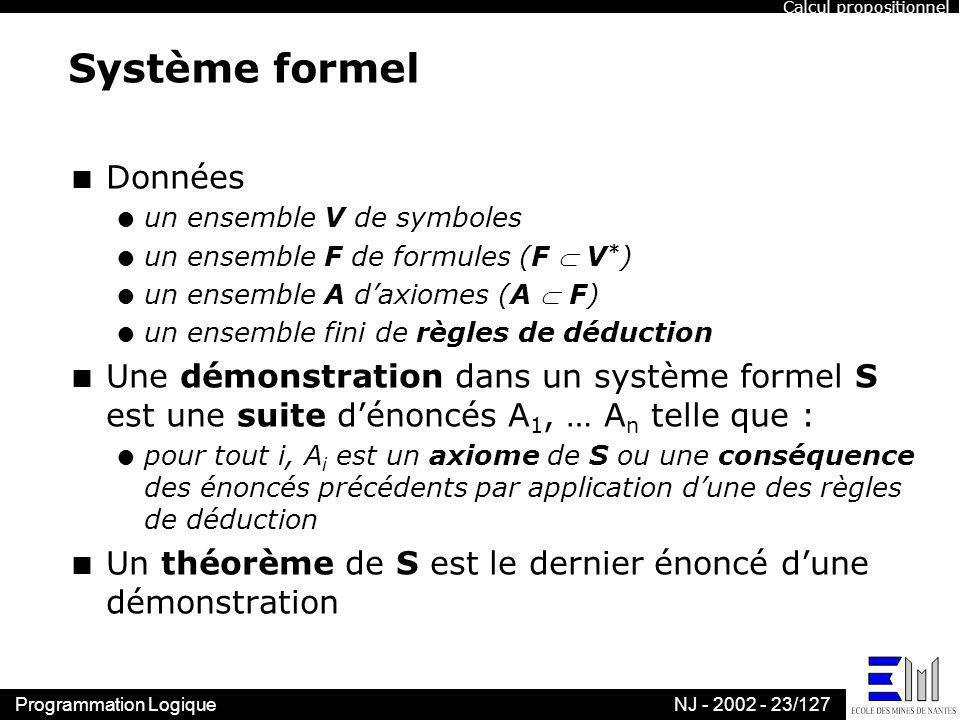 Système formel Données