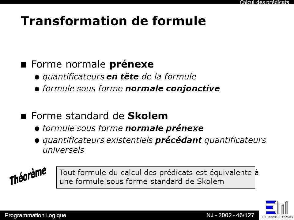 Transformation de formule