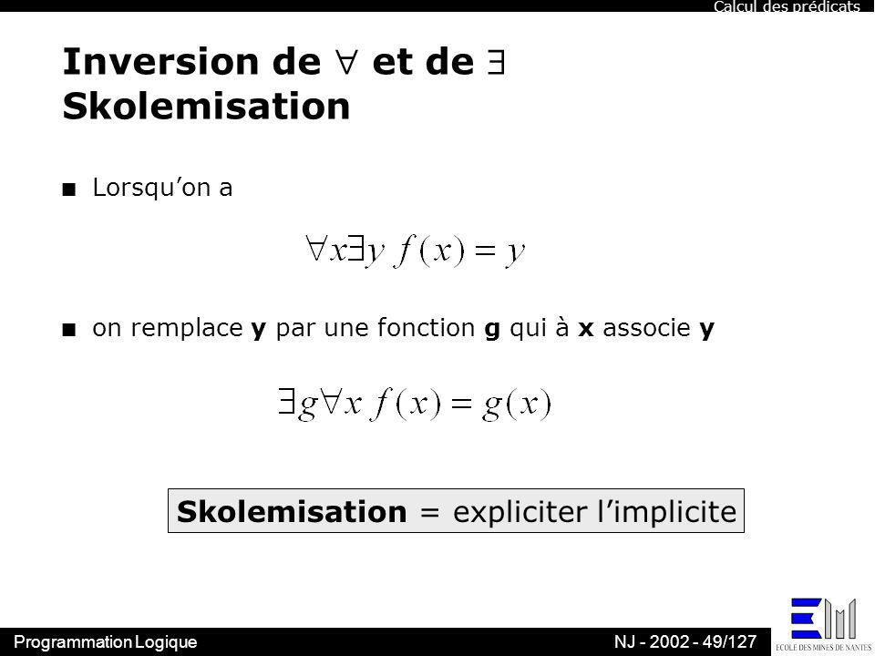 Inversion de  et de  Skolemisation