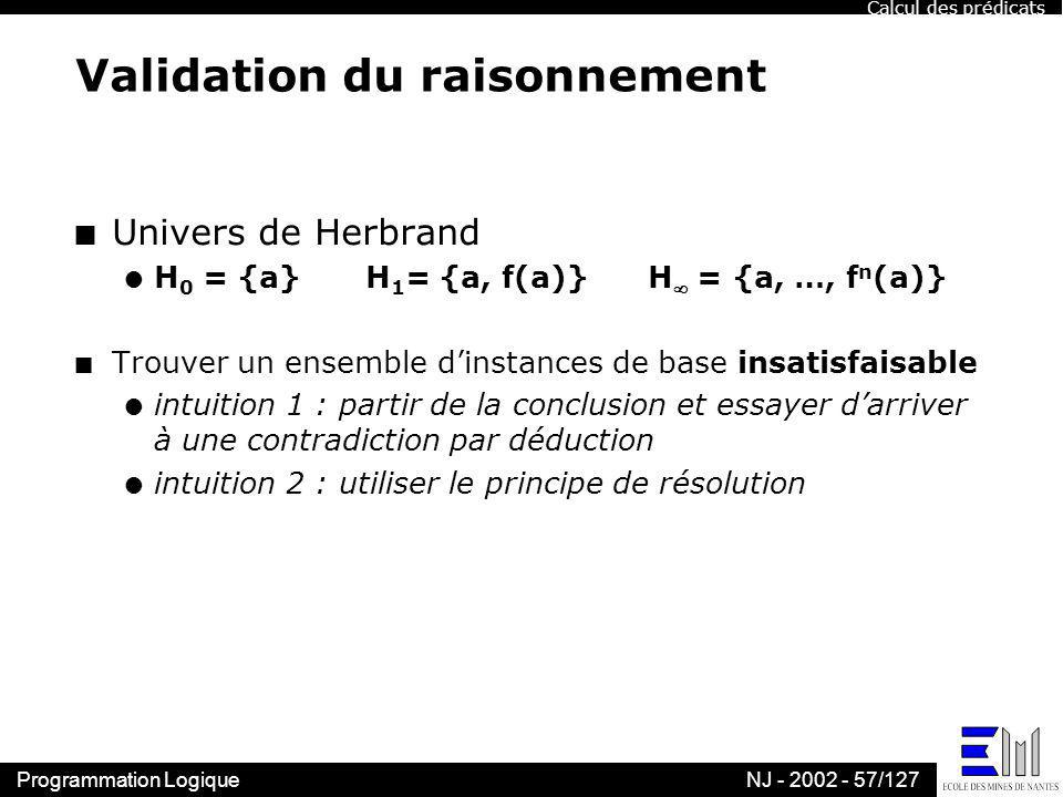 Validation du raisonnement