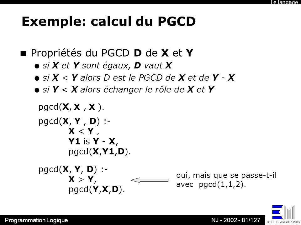 Exemple: calcul du PGCD