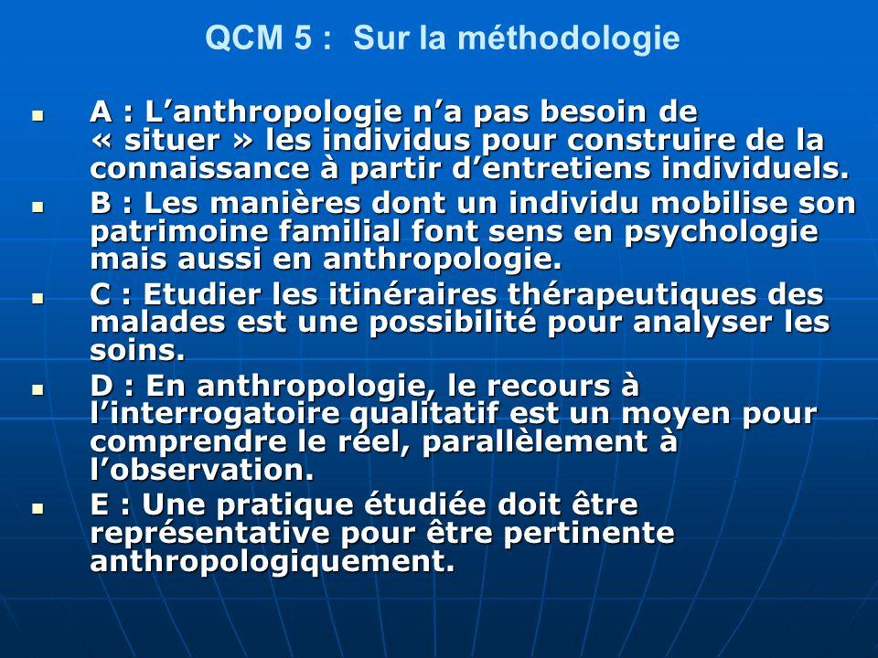 QCM 5 : Sur la méthodologie