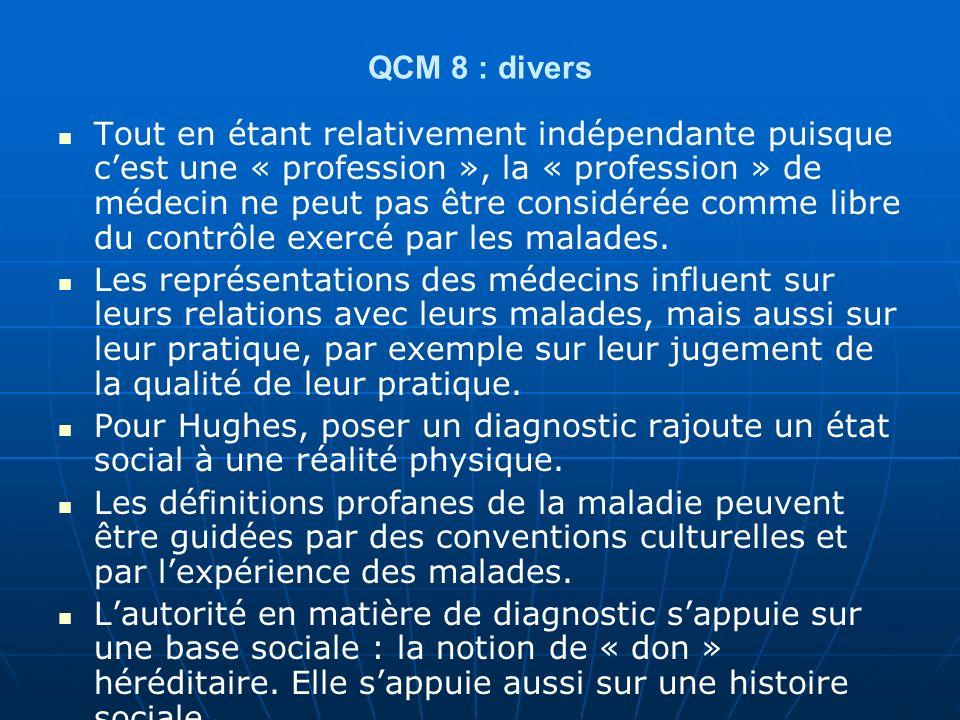 QCM 8 : divers