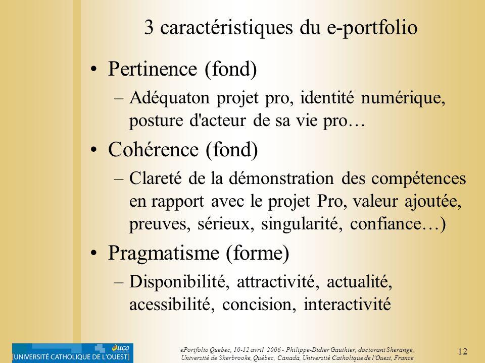 3 caractéristiques du e-portfolio