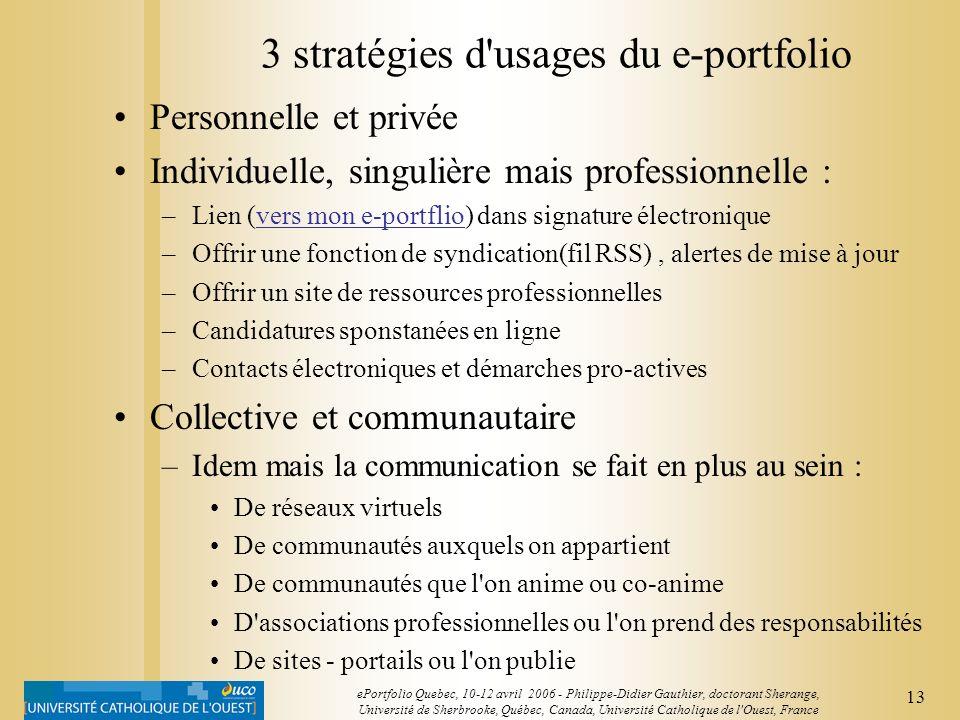 3 stratégies d usages du e-portfolio