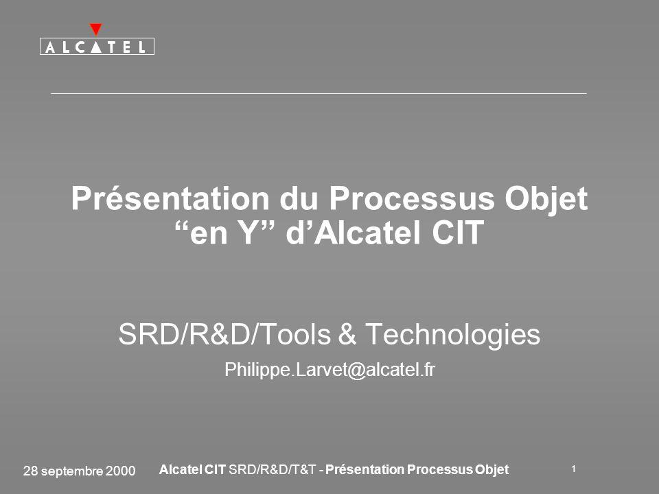 Présentation du Processus Objet en Y d'Alcatel CIT