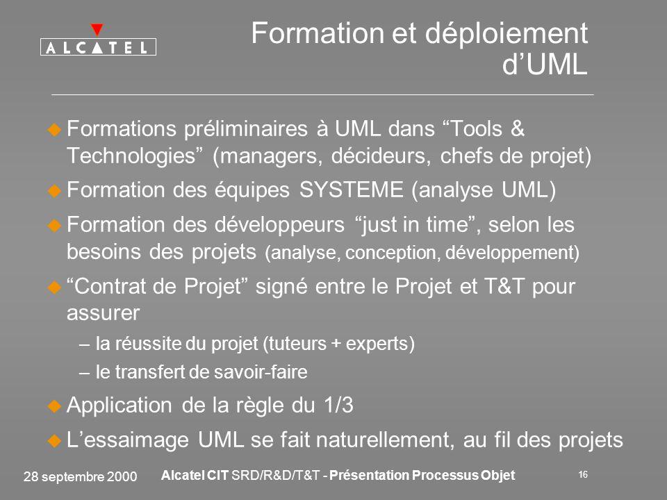 Formation et déploiement d'UML