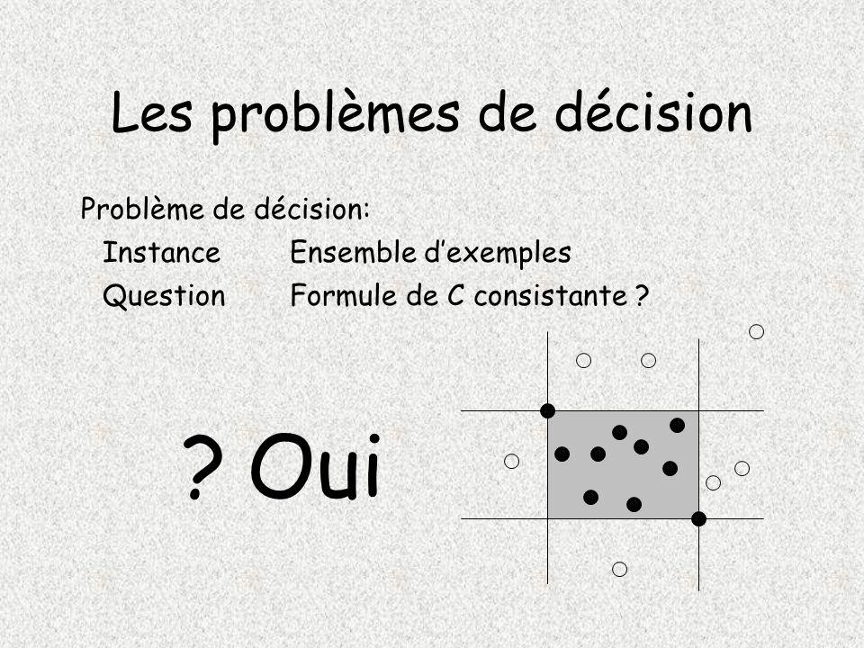 Les problèmes de décision