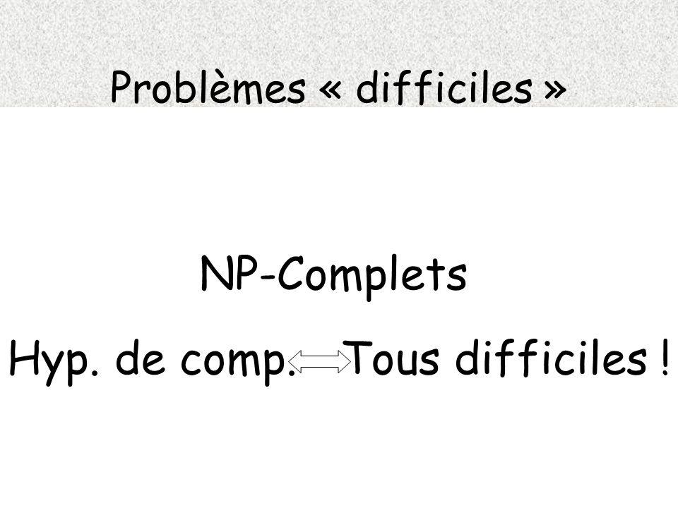Problèmes « difficiles »