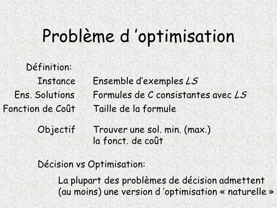 Problème d 'optimisation