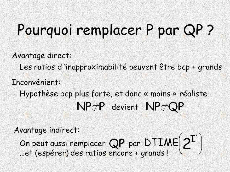 Pourquoi remplacer P par QP